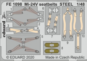 Mi-24V seatbelts STEEL