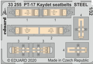 PT-17 Kaydet seatbelts STEEL