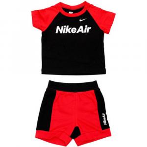 Completo Rosso\Nero Nike Bimbo