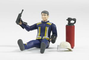 BRUDER 60100 - Pompiere con Accessori