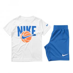 Completo Nike Bianco\Blu da Bimbo