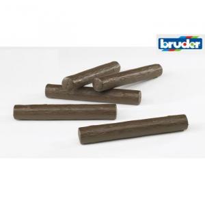 BRUDER 02343 - Bruder Set Tronchi 5 pezzi 2343 (Ex 2312)