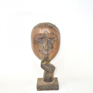 Statuetta Volto Africano Legno