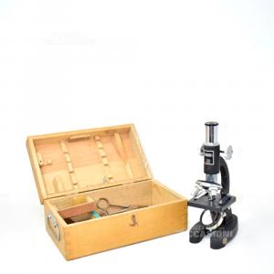Mini Microscopio Standard-l Con Scatola Legno (da Sistemare)