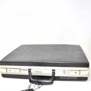 Briefcase Vintage Novalise Black 35x45 (no Keys)