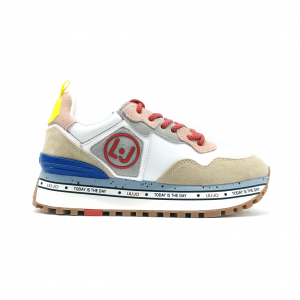 Sneaker bianca con fondo platform Liu jo