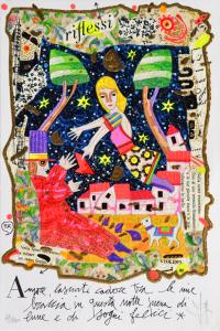 Musante Francesco Amore, lasciati cadere Serigrafia  Formato cm 30x20