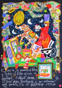 Musante Francesco Come in un romanzo Serigrafia polimaterica Formato cm 35x25