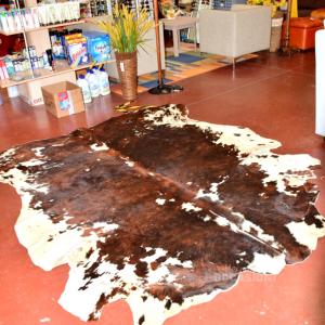 Tappeto Mucca Marrone Nero Bianco