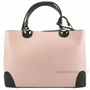 Borsa rosa donna a mano con tracolla in pelle - Irma - Pelletteria Fiorentina