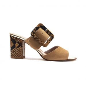 Sandalo beige/pitone La Repo