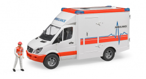 BRUDER 02536 - Ambulanza Mercedes-Benz Sprinter + Pers. (62710)