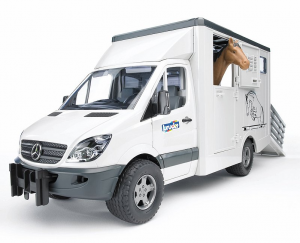 BRUDER 02533 - Mercedes Benz Sprinter + Cavallo Marrone (02306)