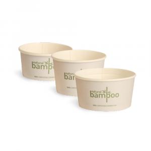 Coppette gelato in Bamboo compostabile 120cc