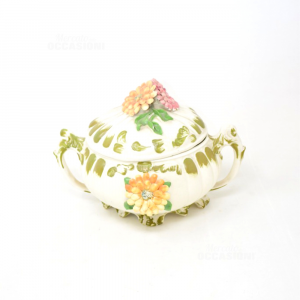 Portacaramelle Ceramica Bassano Con Coperchio