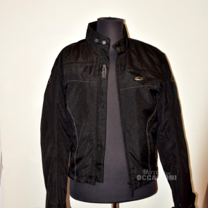 Jacket Motorcycle Man Axo Black With Protections