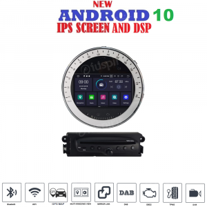 ANDROID 10 autoradio navigatore per MINI COOPER 2006-2013 GPS DVD WI-FI Bluetooth MirrorLink