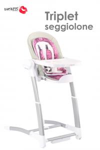 Seggiolone Triplet  linea AMARENA  by  Baciuzzi