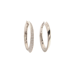 Earrings in paid yellow gold and diamonds