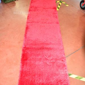 Tappeto Rossa Frange 270x65
