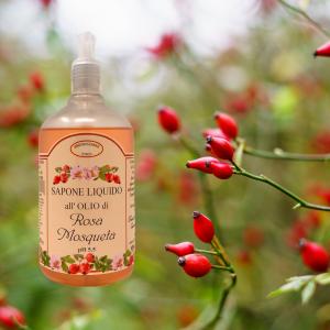 Sapone liquido all'olio di rosa mosqueta 500 ml