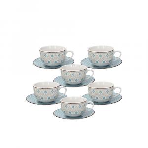 Confezione 6 Tazzine Tè Con Piattino Metropolis Casablanca