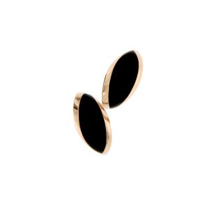 Orecchini cm.4 in oro rosa e giaietto