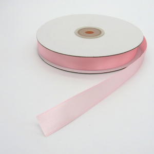 Nastro doppio raso rosa h16mm