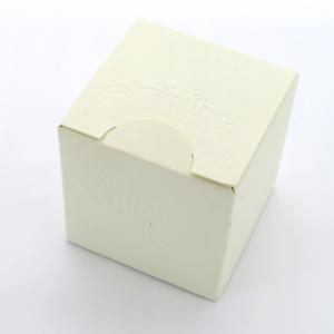 Scatola per piccole bomboniere avorio 6x6x6