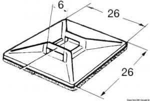 Basetta Nylon Autoadesiva Confezione da 100 Pezzi - Osculati