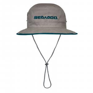 Cappello a Tesa Larga 100% in Cotone, Taglia Unica, Grigio, Sea-Doo