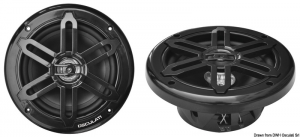 Cassa stereo doppio cono nere 6,5 - 2x120w - Osculati