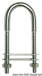 Cavallotto inox 110 mm 60x15 - Osculati
