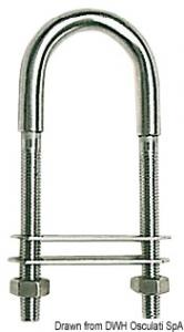 Cavallotto inox 110 mm 80x40 - Osculati