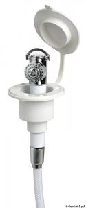 Doccetta Mizar bianca tubo PVC 2,5 m in piano - Osculati