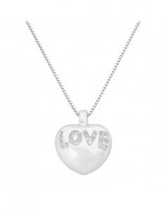 Collana pendente cuore LOVE