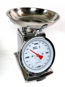 Bilancia 2kg in acciaio per cucina di Brandani