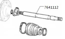 Semiasse sinistro Fiat Uno, 7641112,