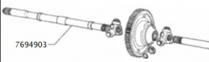 Semiasse destro Fiat Tempra D, TD, 7694903,