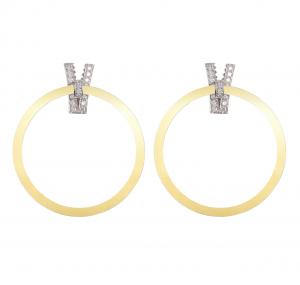 Orecchini in oro giallo pallido e diamanti