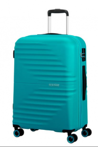 American Tourister Wavetwister Valigia trolley (4 ruote) Aqua Turquoise 94 lt