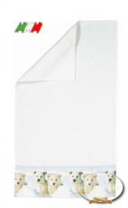 Asciugamani stampa digitale Cuccioli Snow