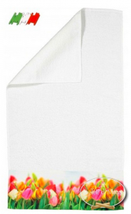 Asciugamani stampa digitale Tulipani