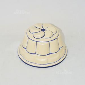 Formina In Ceramica Per Budino Colore Panna E Bli