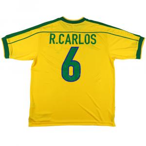1998-00 Brasile Maglia home #6 R.Carlos XL (Top)