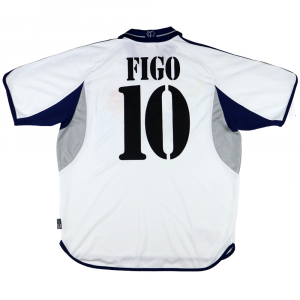 2000-01 Real Madrid Maglia Home Figo #10 L  (Top)