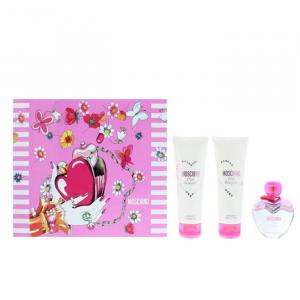 Moschino Pink Bouquet Eau De Toilette Spray 50ml Set 3 Parti 2020