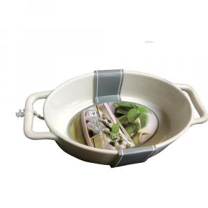 Mercury Pirofila Ovale in Porcellana Bianca con Due Manici Bianca 33x19x7h cm da Cucina