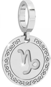 Charm unisex medaglia zodiaco Rebecca. Collezione Myworld Silver.