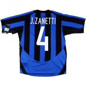 2003-04 Inter Maglia Home #4 Zanetti M *Nuova